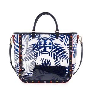 bf85ef512411 Tory Burch Bags - Tory Burch Marguerite Palm-Print PVC Tote Bag